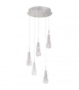 Suspension cascade design en verre Camara