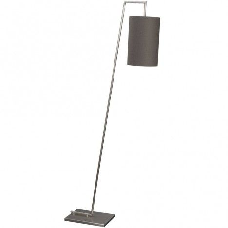 Lampadaire design en métal blanc ou gris Flemio -
