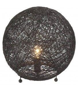 suspension boule noire d34 cm. Black Bedroom Furniture Sets. Home Design Ideas