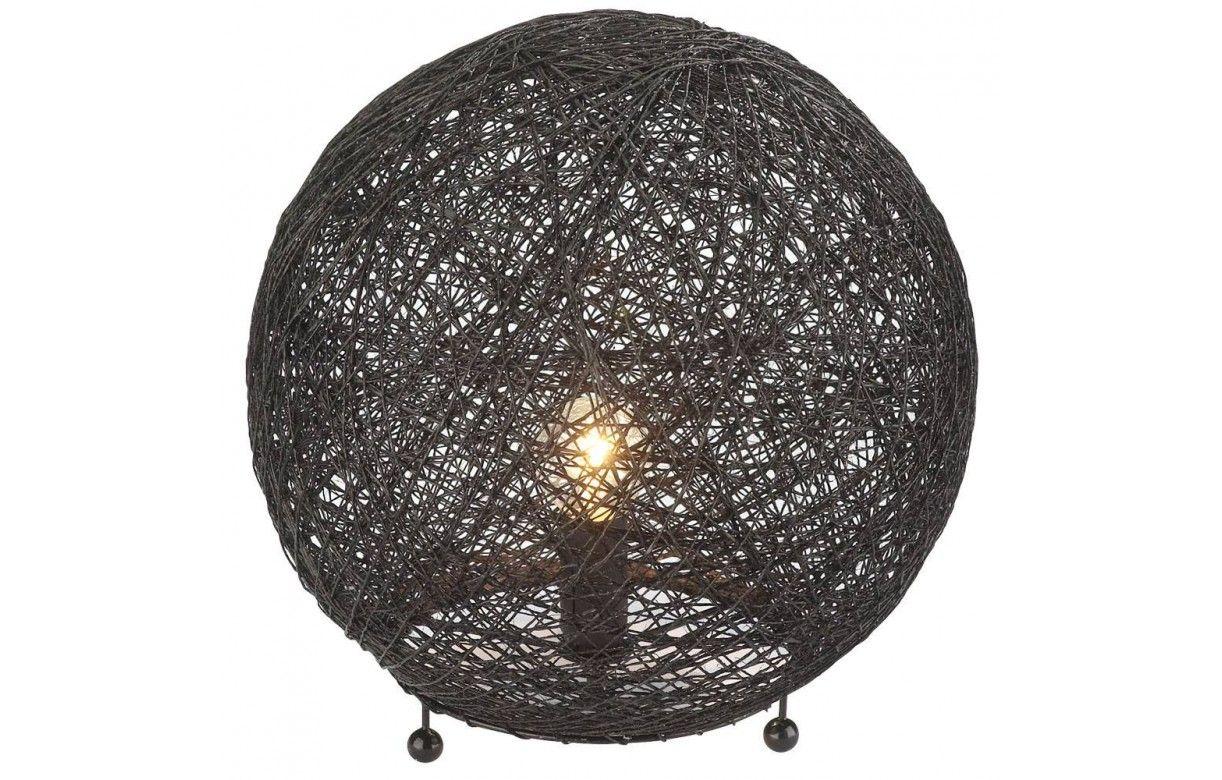 lampe boule noire poser design fils. Black Bedroom Furniture Sets. Home Design Ideas