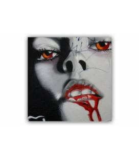 Tableau rock'n'roll Vampire 50x50 cm DARK