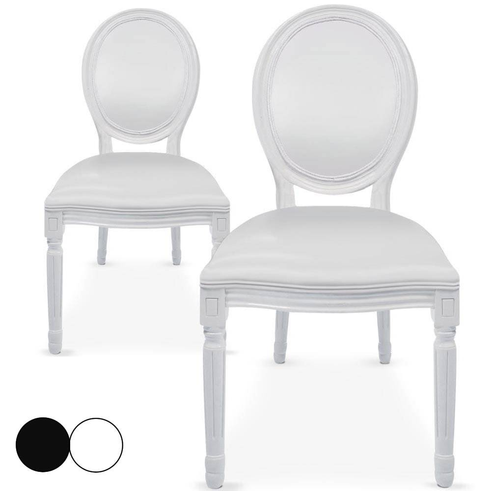 chaises blanches simili cuir chaise bois massif lgant chaise sudoise pivotante simili cuir. Black Bedroom Furniture Sets. Home Design Ideas