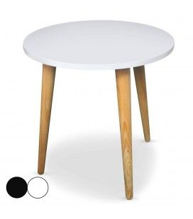 Table basse en bois decome store - Table basse scandinave ronde ...