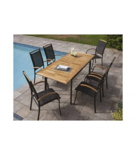 Tables et chaises de jardin decome store for Table d exterieur en aluminium