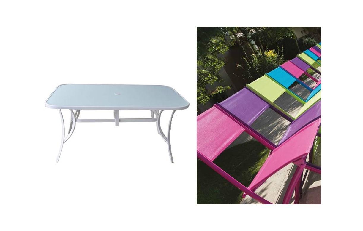 Table de jardin pliante et 4 chaises - Table pliante avec chaises encastrables ...