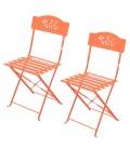 Petit salon de jardin table et 4 chaises en métal Venise -
