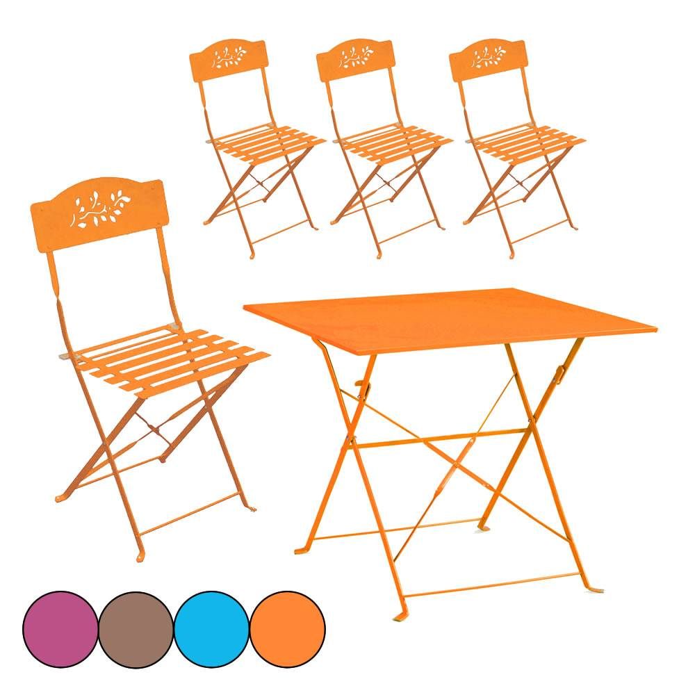 Stunning petite table de jardin orange images seiunkel for Table jardin et chaises
