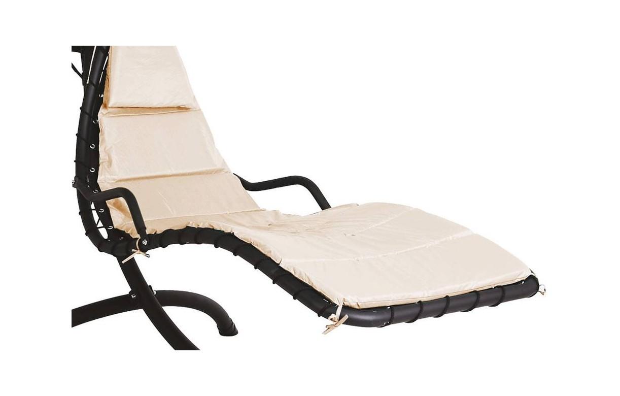 bain de soleil suspendu beige avec ombrelle. Black Bedroom Furniture Sets. Home Design Ideas