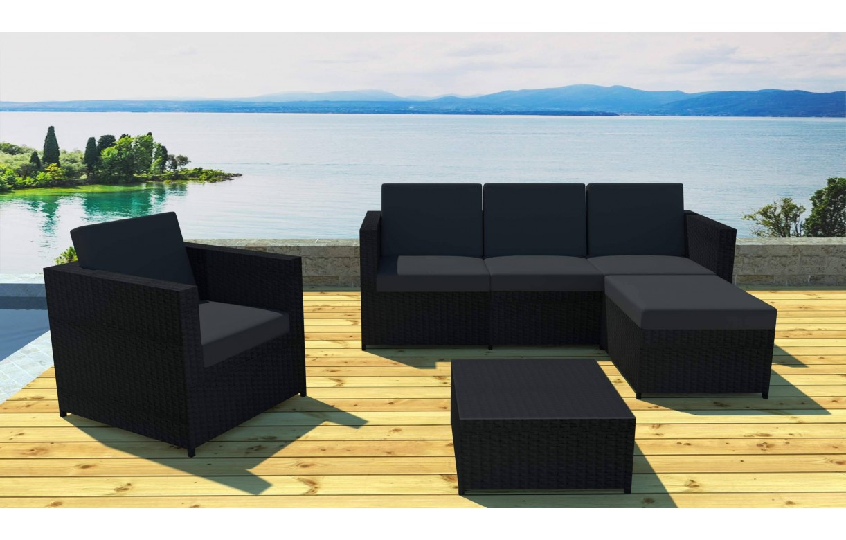 best salon de jardin aluminium bandol contemporary. Black Bedroom Furniture Sets. Home Design Ideas