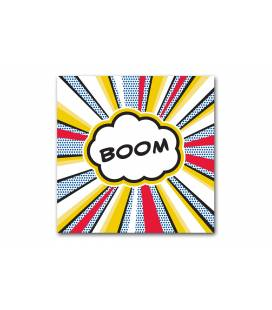 Tableau pop art Boom explosif 50x50 cm BOOMY