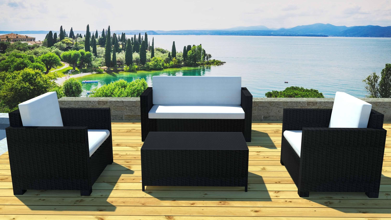 Awesome Salon De Jardin Angle Noir Images - Amazing House Design ...