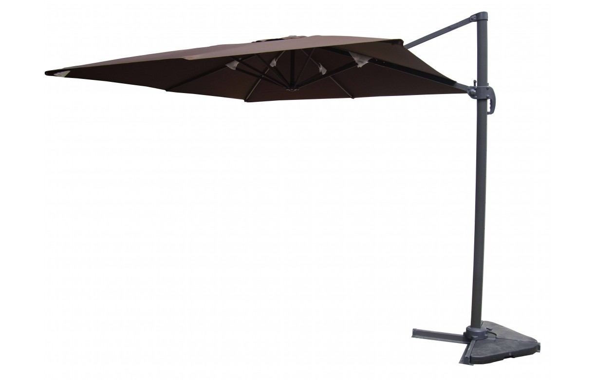 parasol d port rotatif 360 en aluminium 3x4m. Black Bedroom Furniture Sets. Home Design Ideas