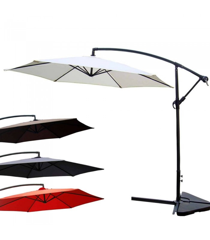 parasol d port 300cm pas cher 4 coloris. Black Bedroom Furniture Sets. Home Design Ideas