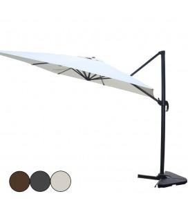 Parasol déporté rotatif en aluminium 3 coloris 3x4m -
