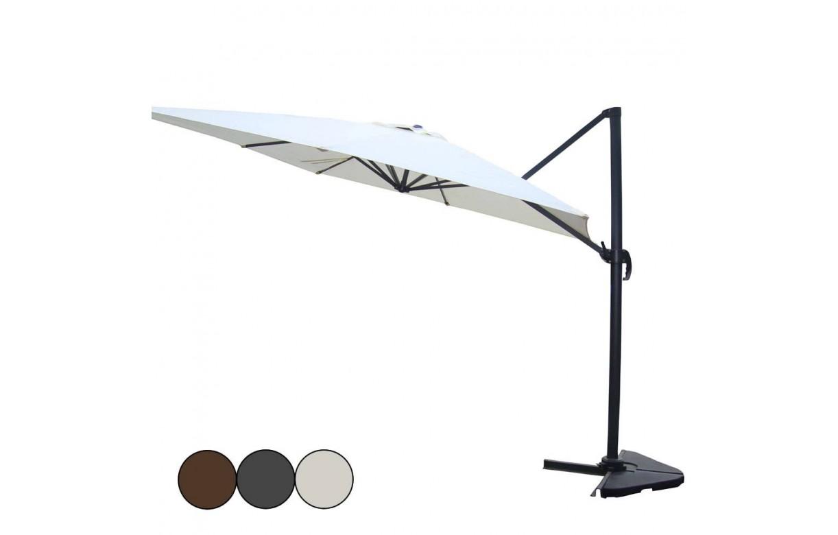 parasol d port rotatif 360 en aluminium 3x4m. Black Bedroom Furniture Sets. Home Design Ideas