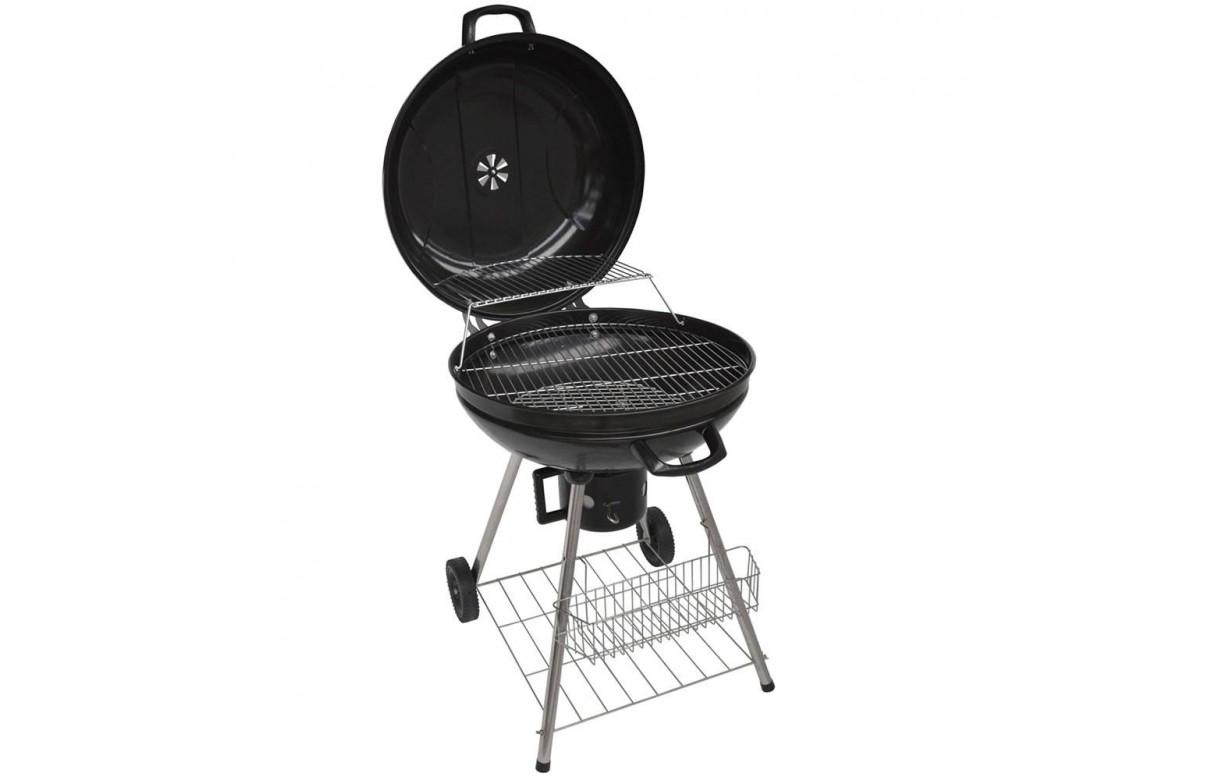 Barbecue charbon avec couvercle pas cher noir # Charbon De Bois Intermarché