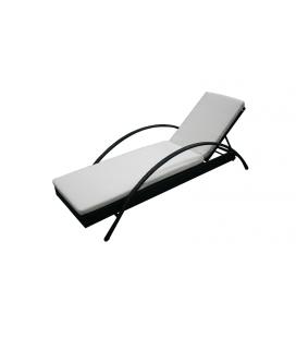 Transat bain de soleil design avec matelas Sanary