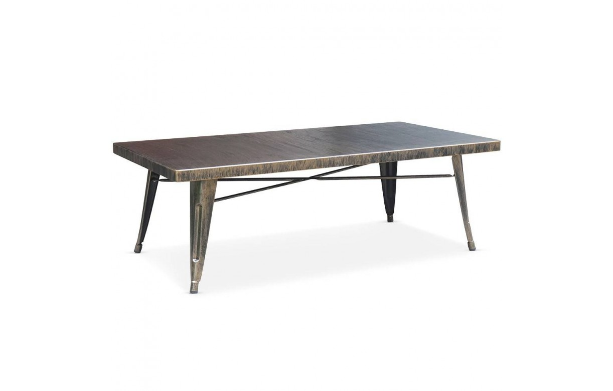 Table basse en m tal int rieur ext rieur for Table exterieur industriel