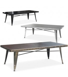 Table basse en métal intérieur extérieur Gordy -