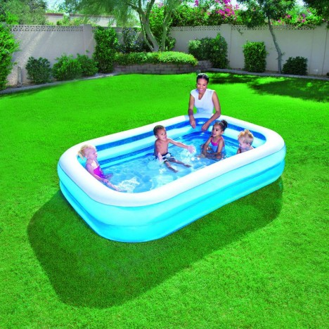 Piscine gonflable bleu pour enfant bestway decome store for Piscine gonflable 2m