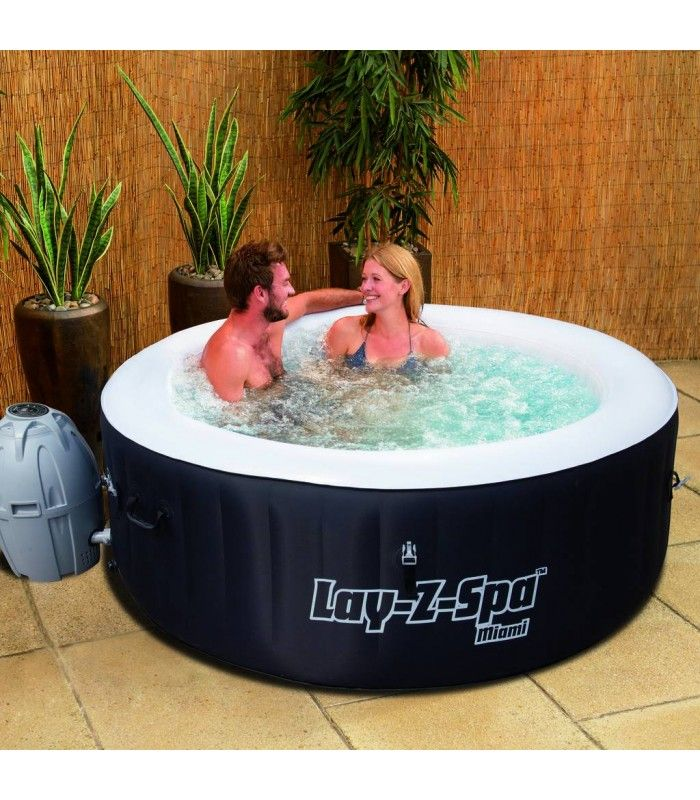jacuzzi gonflable rond miami 4 personnes bestway 54123. Black Bedroom Furniture Sets. Home Design Ideas