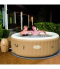 Jacuzzi gonflable taupe rond Sptrings 6 personnes Bestway 54129 -