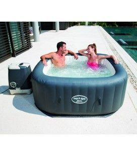 Jacuzzi gonflable carré Hawaii Hydrojet Pro 4 à 6 places Bestway 54138 -