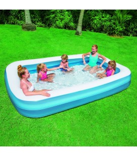 Piscine gonflable bleu pour enfant rectangle Bestway -