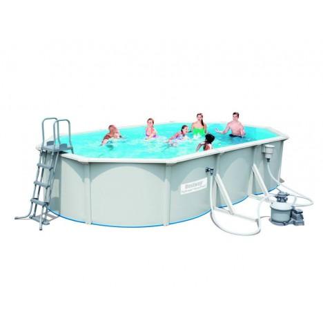 Grande piscine en kit ovale 610cm blanche Bestway 56369 -