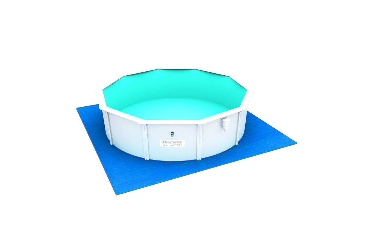 Piscine ronde blanche hors sol en kit bestway for Piscine hors sol non imposable