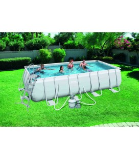 Piscine blanche rectangle à monter soi-même 5 mètres -