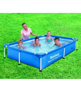 Petite piscine pour enfants 221 x 150 x 43 cm bleu -
