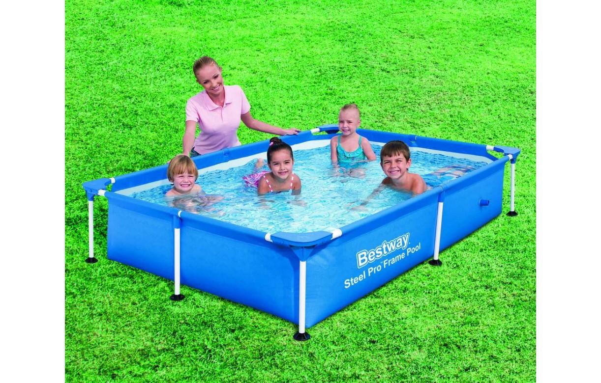 Petite piscine pour enfants 221 x 150 x 43 cm bleu for Piscine enfant