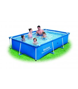 Piscine bassin bleue pour famille 260 x 170 x 60 cm -
