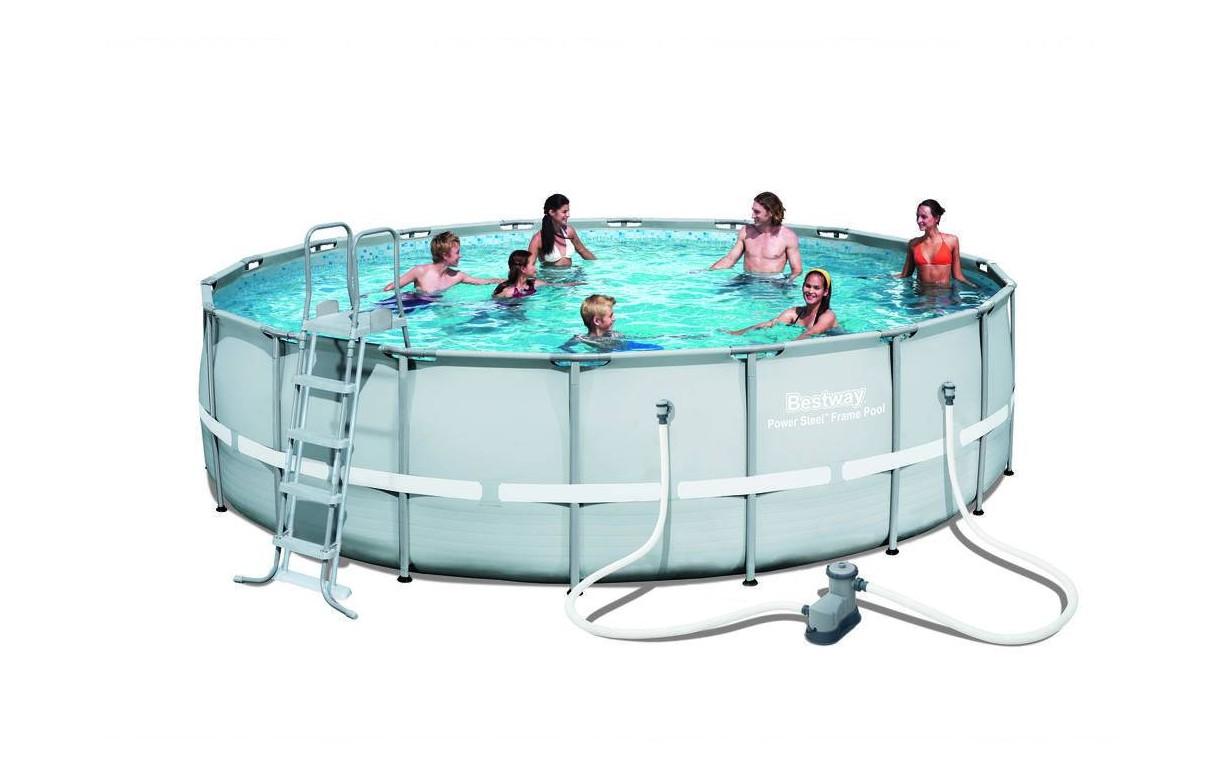 piscine ronde hors sol d550cm avec filtre b che echelle et tapis. Black Bedroom Furniture Sets. Home Design Ideas