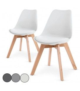 Chaises en simili cuir decome store for Chaise scandinave cuir