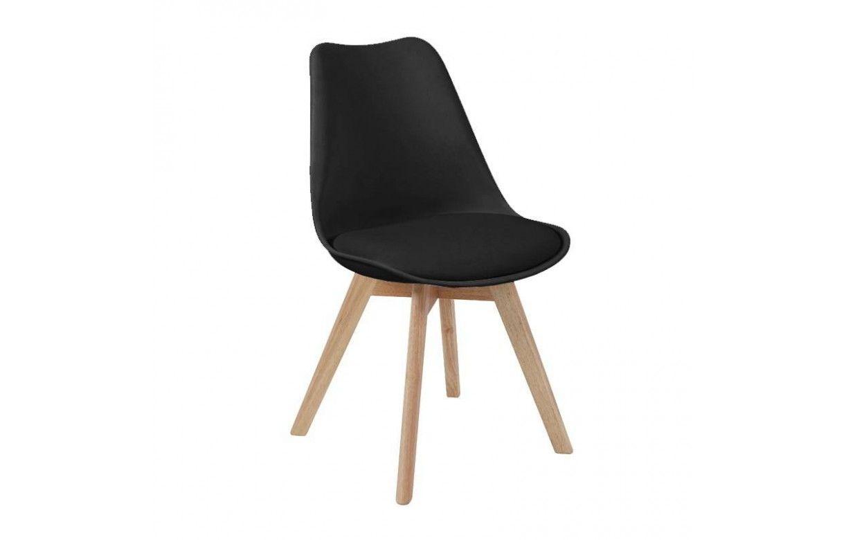 2 design Lot massif scandinave bois Chaise de orange en H2YWD9EI