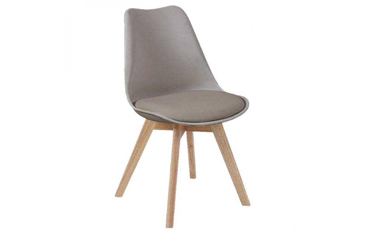 Chaise design scandinave orange en bois massif lot de 2 for Chaise bois design