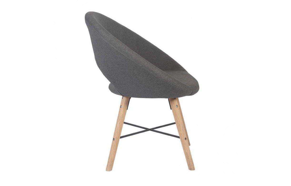 fauteuil moderne en bois massif et tissu style nordique. Black Bedroom Furniture Sets. Home Design Ideas