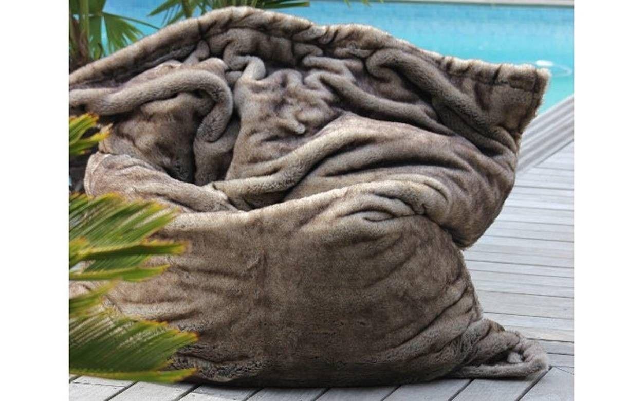 Housse de pouf géant adaptable ultra douce fourrure SitInPool