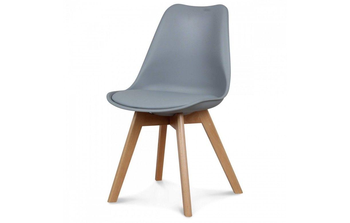 chaise scandinave et pieds en bois scany lot de 2. Black Bedroom Furniture Sets. Home Design Ideas