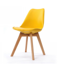 Chaise scandinave et pieds en bois Scany - Lot de 2 -