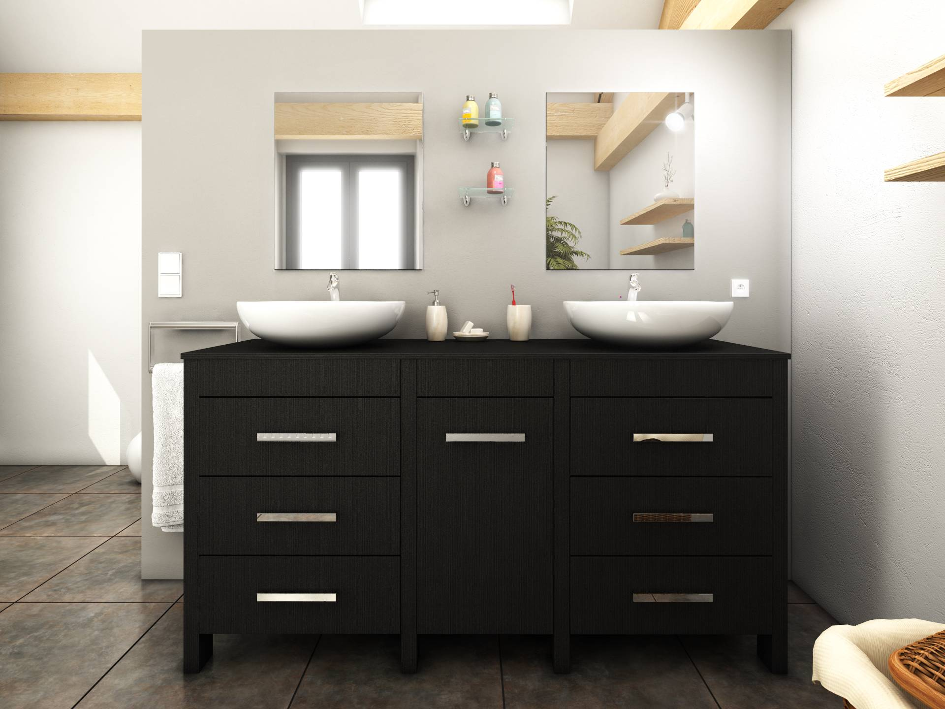 meuble salle de bain a tiroir 37481 salle de bain id es. Black Bedroom Furniture Sets. Home Design Ideas
