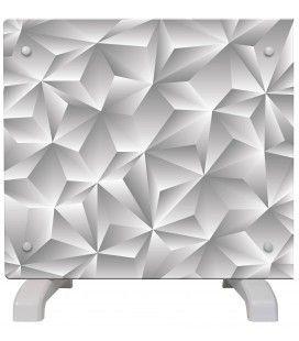 Radiateur déco gris argent moderne 500w ou 1000w