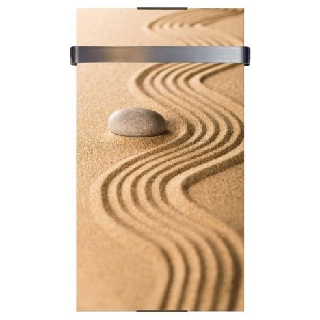 Sèche serviette électrique design 300 ou 600w décor Sable H90cm -