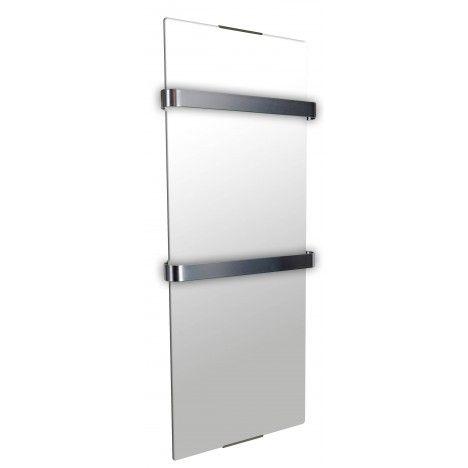 Sèche serviette électrique miroir 900w - H100cm -
