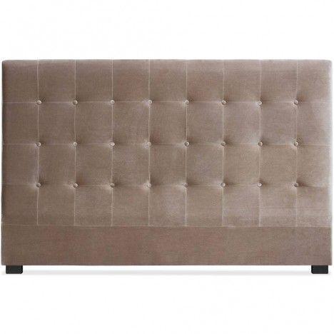 Tête de lit king size capitonnée en velours Luxy - 3 coloris -