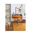 Bureau vintage scandinave en bois avec tiroir et rideau Vintagy -