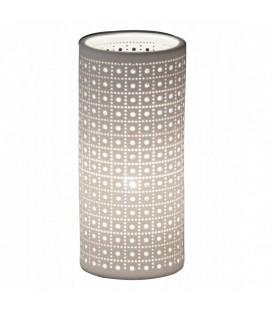 Lampe en porcelaine blanche Mozaik 24 cm -