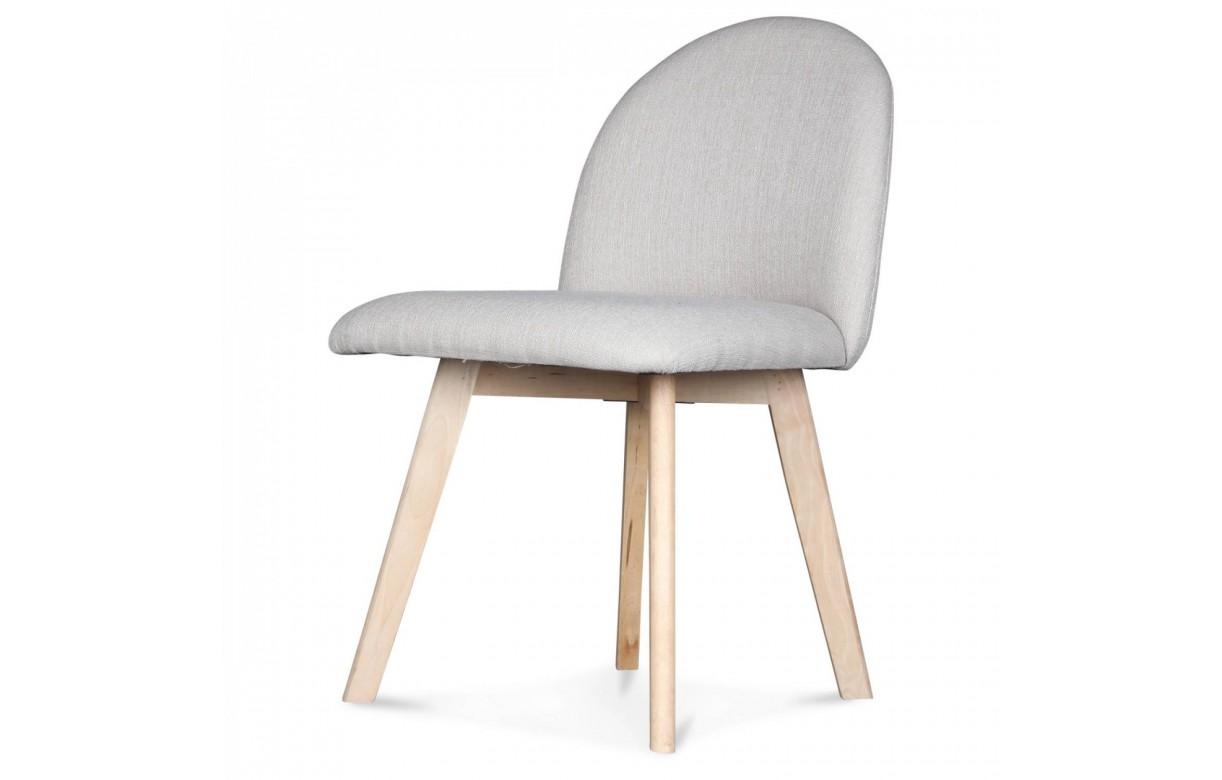 Chaise Avec Pied En Bois - Chaise scandinave pastel avec pieds en bois Ivar